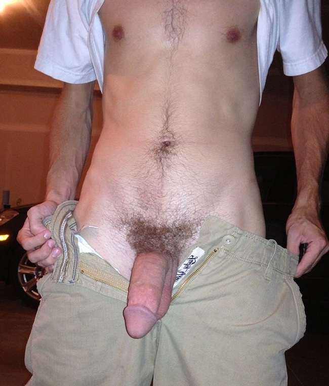 Man Showing Big Hairy Cock