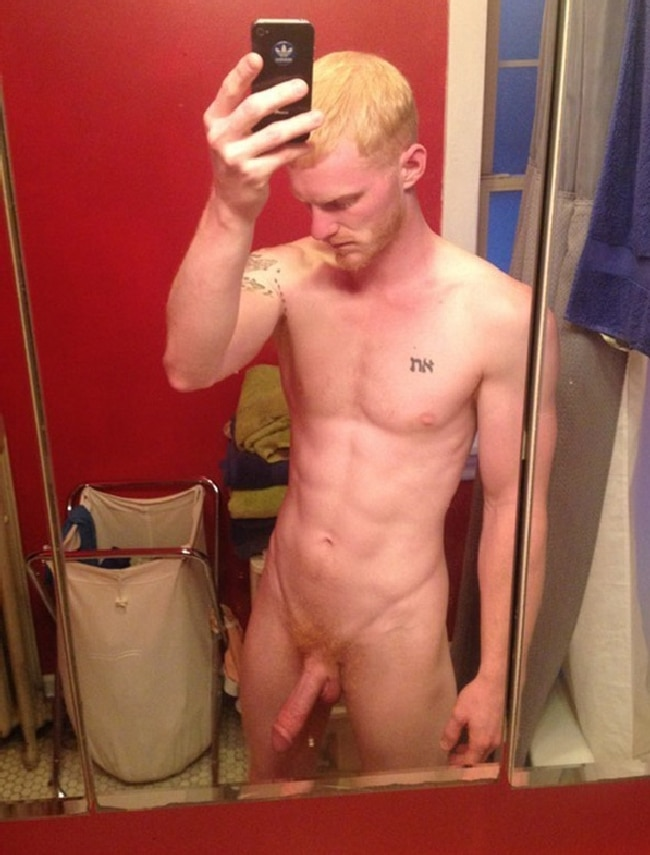 Nude Blonde Man