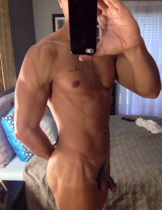 Nude Muscle Man With Soft Cock