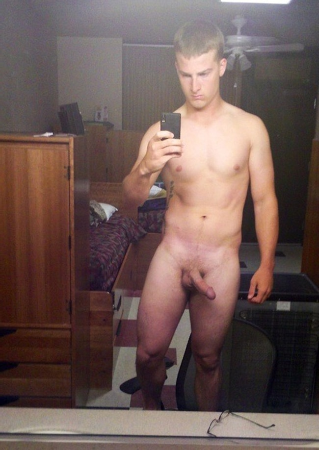 Naked Boy Taking Selfie