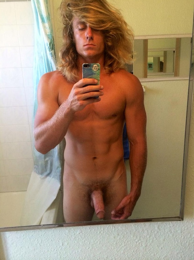 Nude Man With Big Hair