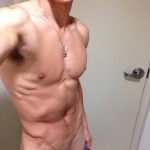 Ripped Nude Twink With Shaved Penis