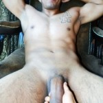 Nude Guy Getting His Big Cock Felt Out