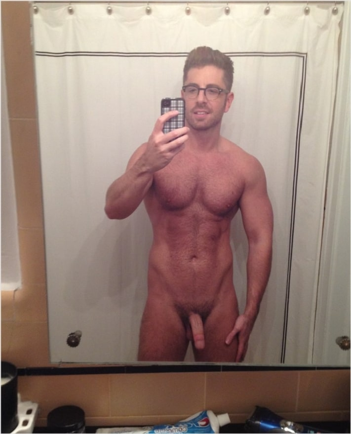 sexy bodybuilder with glasses
