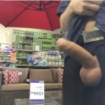 Man In A Store Have His Cock Out
